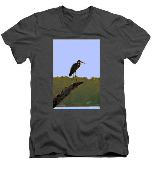 Sitting High On The Log Men's V-Neck T-Shirt