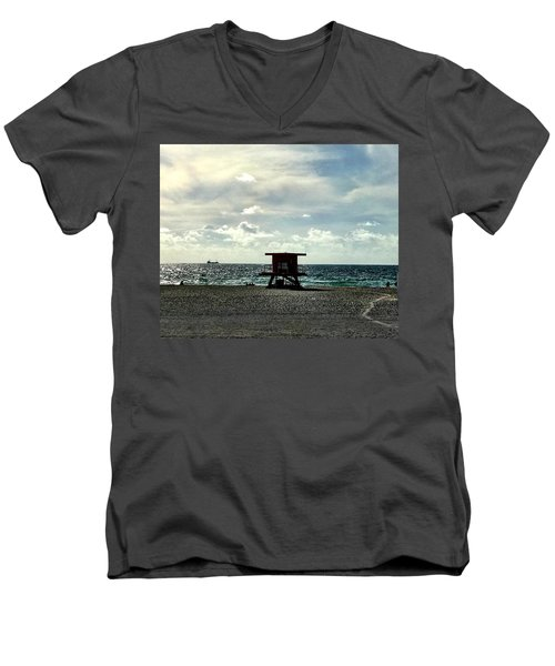 Sitting On The Beach Men's V-Neck T-Shirt