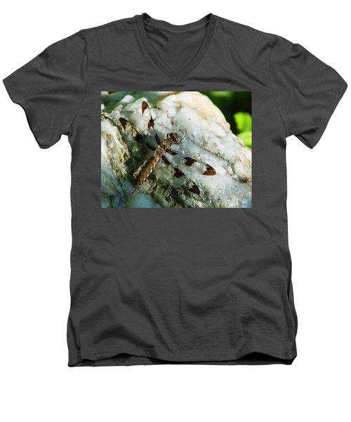 Six Spotted Dragonfly Men's V-Neck T-Shirt