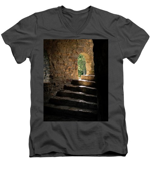 Six Steps And Sunlight Men's V-Neck T-Shirt