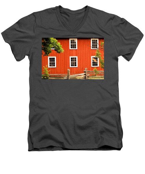 Six Windows Men's V-Neck T-Shirt by Ian  MacDonald
