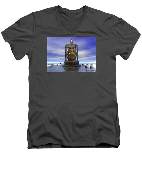 Sixth Sense - Surrealism Men's V-Neck T-Shirt by Sipo Liimatainen