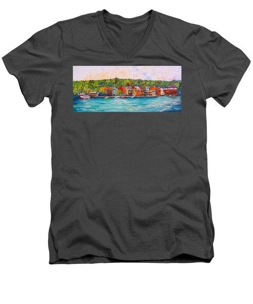 Skaneateles Ny #2 Men's V-Neck T-Shirt