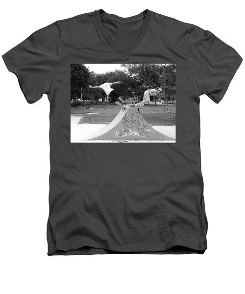 Skate Ballet Men's V-Neck T-Shirt by Beto Machado