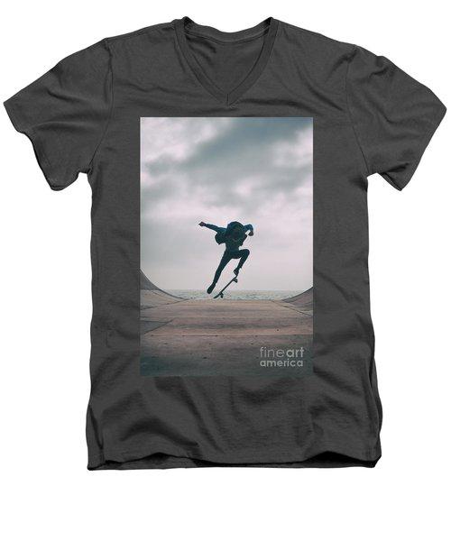 Skater Boy 004 Men's V-Neck T-Shirt