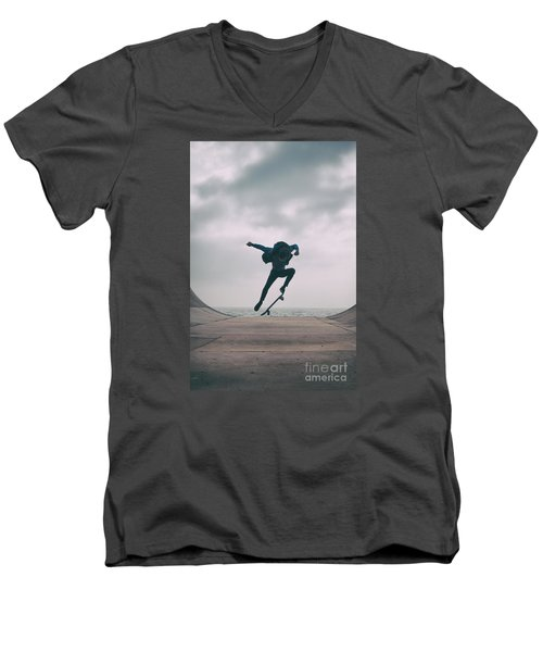 Skater Boy 004 Men's V-Neck T-Shirt