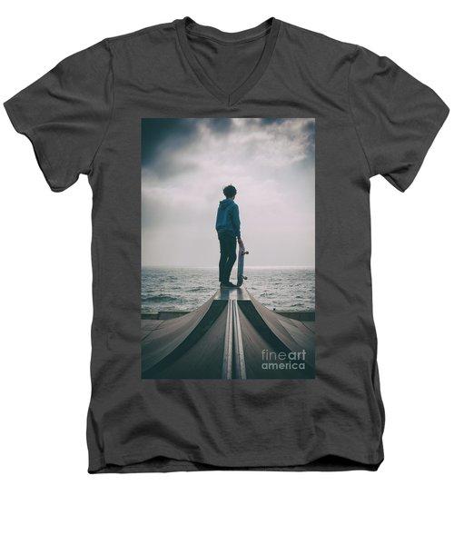 Skater Boy 005 Men's V-Neck T-Shirt