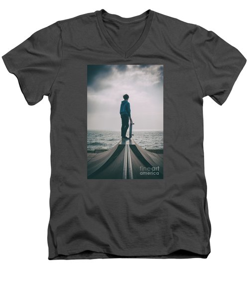 Skater Boy 005 Men's V-Neck T-Shirt