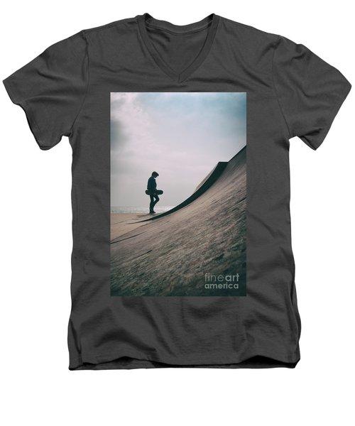 Skater Boy 006 Men's V-Neck T-Shirt