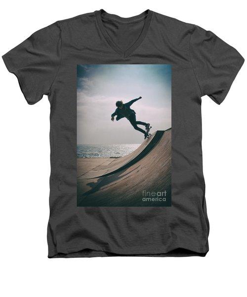 Skater Boy 007 Men's V-Neck T-Shirt