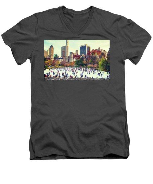 New York Central Park Men's V-Neck T-Shirt