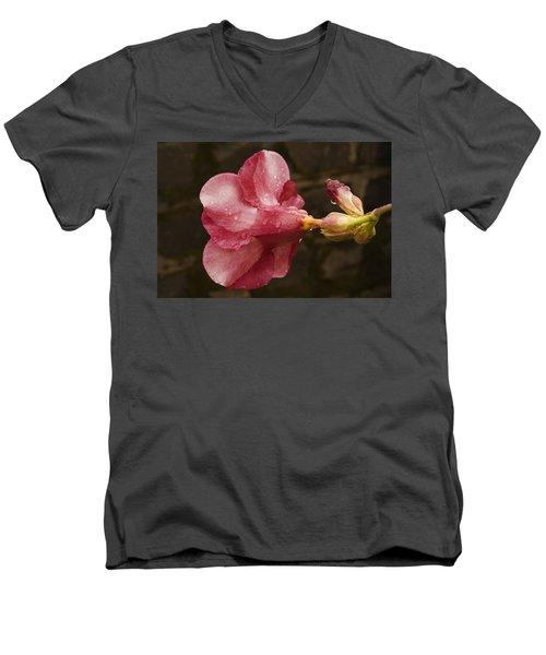 Skc 3253 The Shades Of Allamanda Men's V-Neck T-Shirt by Sunil Kapadia