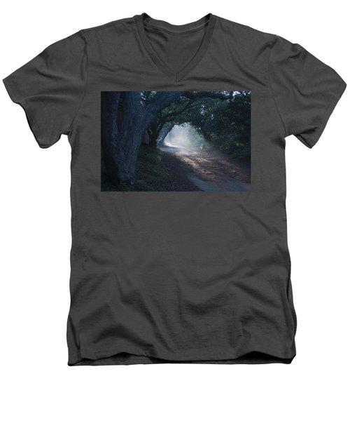 Skc 4671 Road Towards Light Men's V-Neck T-Shirt by Sunil Kapadia