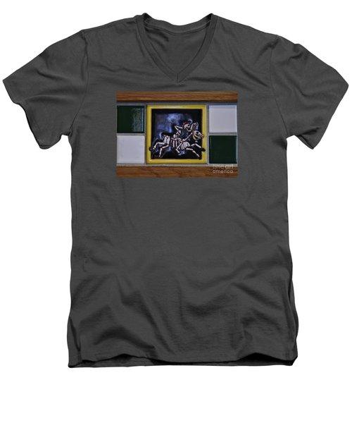 Skeleton Horse Men's V-Neck T-Shirt