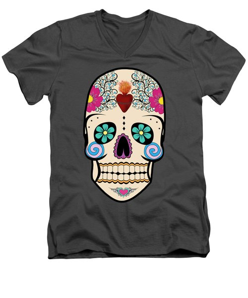 Skeleton Keyz Men's V-Neck T-Shirt by LozMac