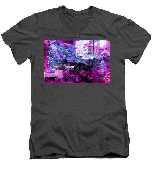 Sketching Flying Stars.. Men's V-Neck T-Shirt