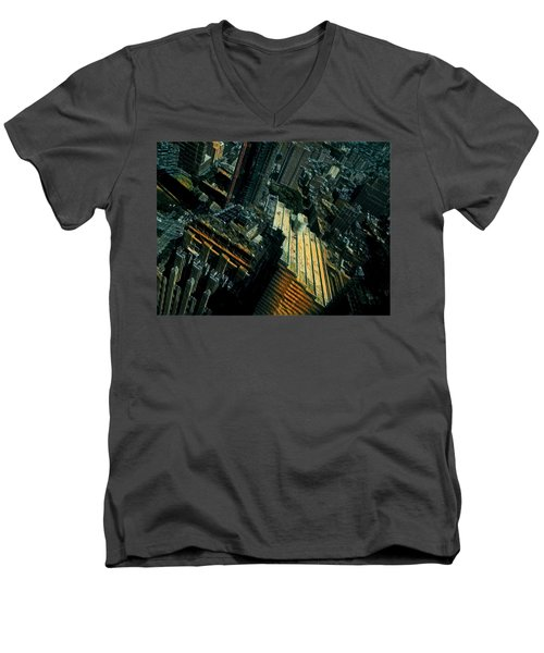Skewed View Men's V-Neck T-Shirt