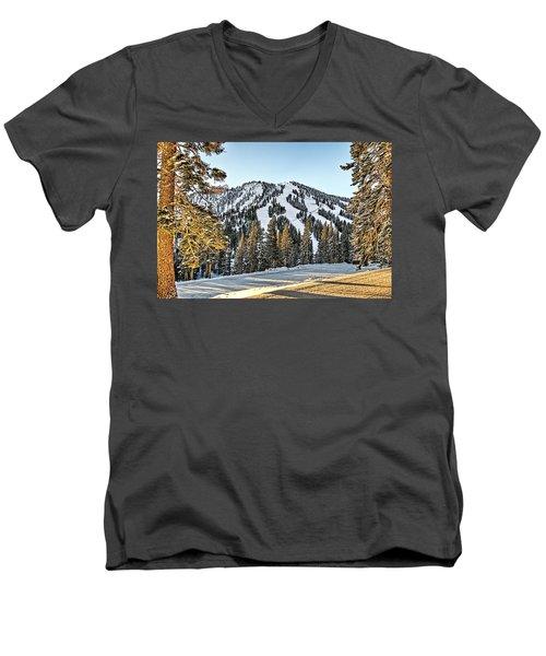 Ski Runs Men's V-Neck T-Shirt