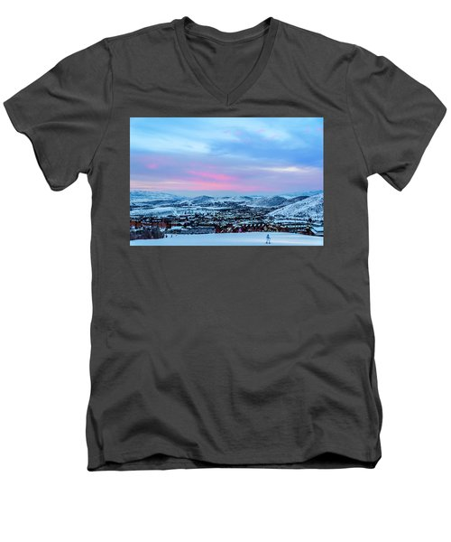 Ski Town Men's V-Neck T-Shirt