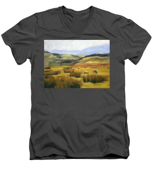 Skiddaw Massif  Men's V-Neck T-Shirt