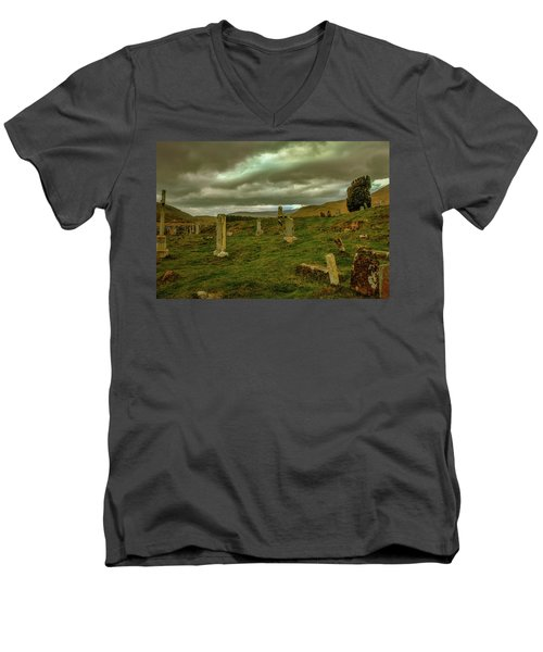 Skies And Headstones #g9 Men's V-Neck T-Shirt