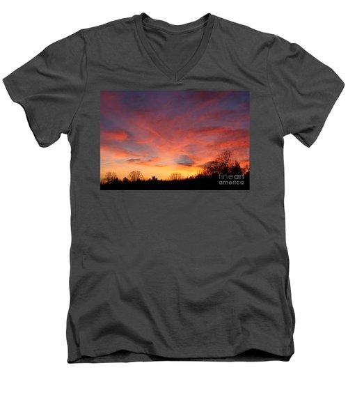 Skies Has No Limits Men's V-Neck T-Shirt