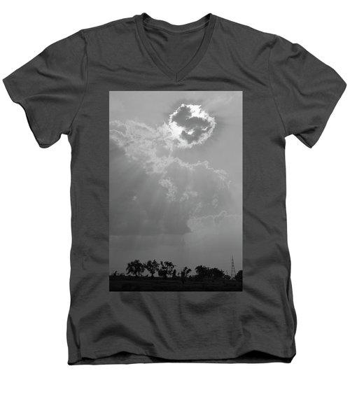 Skn 2170 Blessings Showered Men's V-Neck T-Shirt by Sunil Kapadia