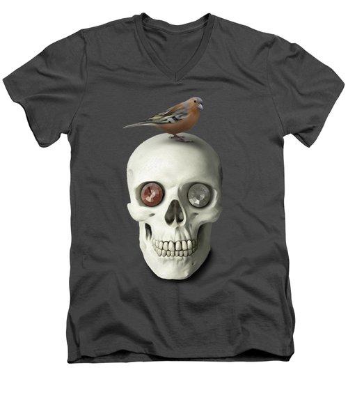 Skull And Bird Men's V-Neck T-Shirt