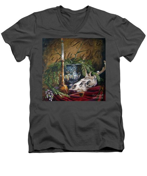 Skull And Candle Men's V-Neck T-Shirt