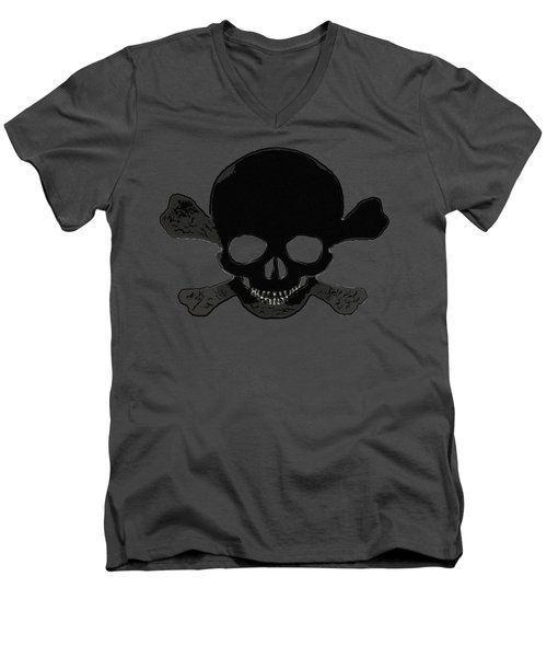 Skull Madness Men's V-Neck T-Shirt