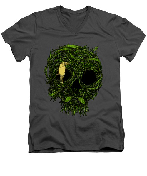 Skull Nest Men's V-Neck T-Shirt by Carbine