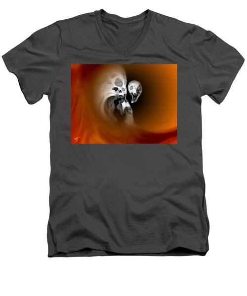 Skull Scope 2 Men's V-Neck T-Shirt