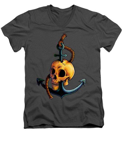 Skullchor Men's V-Neck T-Shirt by Vicki Von Doom