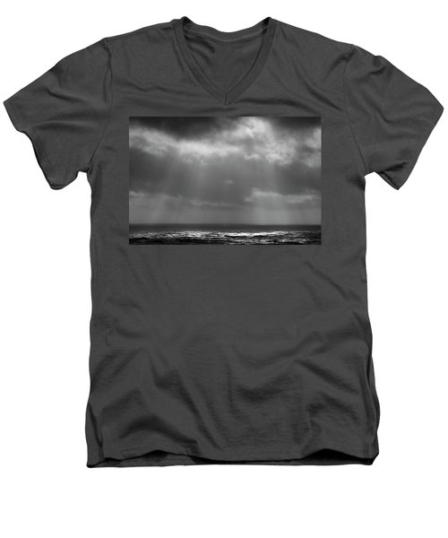 Men's V-Neck T-Shirt featuring the photograph Sky And Ocean by Ryan Manuel