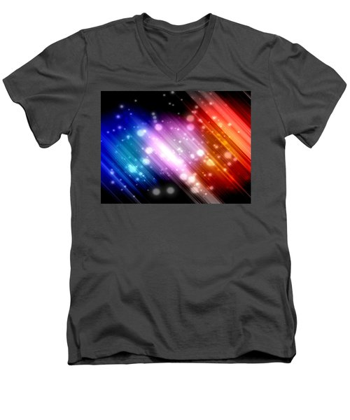 Sky Beams Men's V-Neck T-Shirt