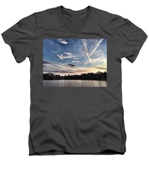 Sky Drama Men's V-Neck T-Shirt