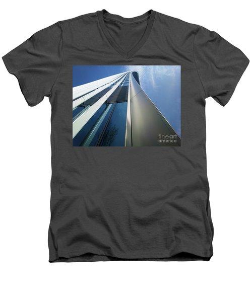 Men's V-Neck T-Shirt featuring the photograph Sky Garden - London by Hanza Turgul