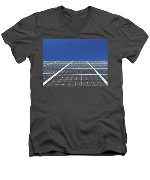 Sky Grid  Men's V-Neck T-Shirt