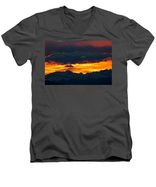 Men's V-Neck T-Shirt featuring the photograph Sky Lava by Colleen Coccia