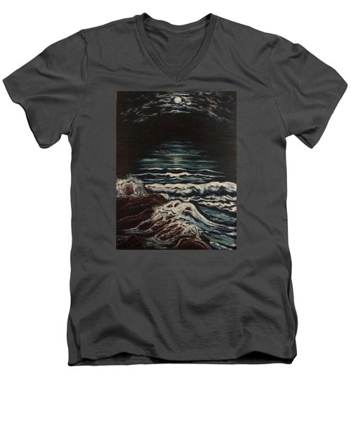 Sky Lights Men's V-Neck T-Shirt