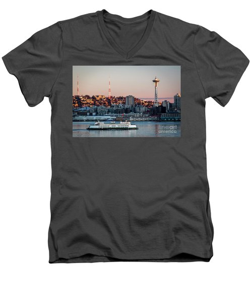 Space Needle.seattle,washington Men's V-Neck T-Shirt