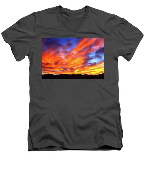 Sky On Fire #5 Men's V-Neck T-Shirt