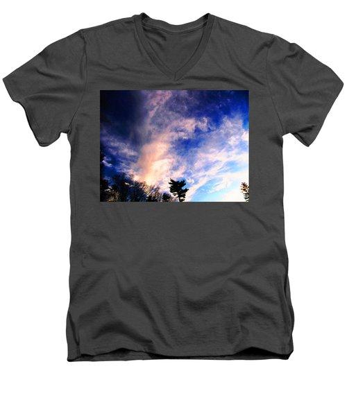 Sky Study 5 3/11/16 Men's V-Neck T-Shirt by Melissa Stoudt