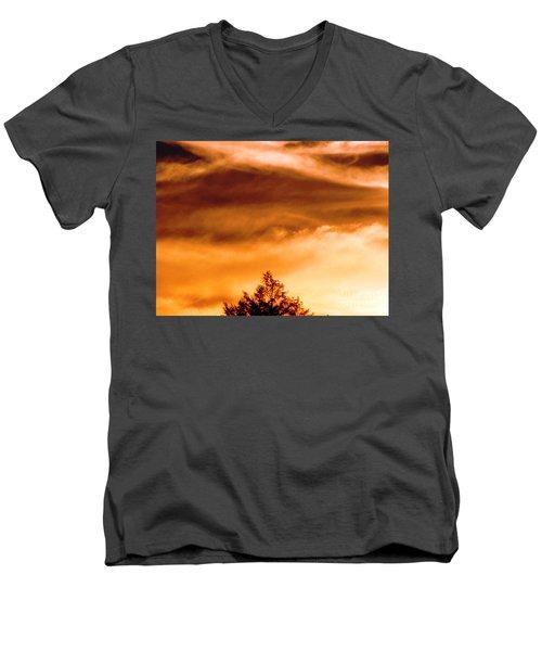 Eye Of Jupiter Men's V-Neck T-Shirt by Melissa Stoudt