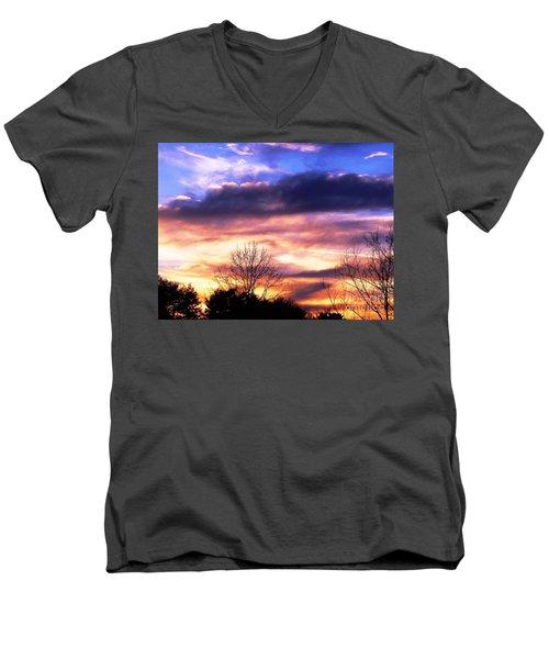 Sky Study 8 3/11/16 Men's V-Neck T-Shirt by Melissa Stoudt