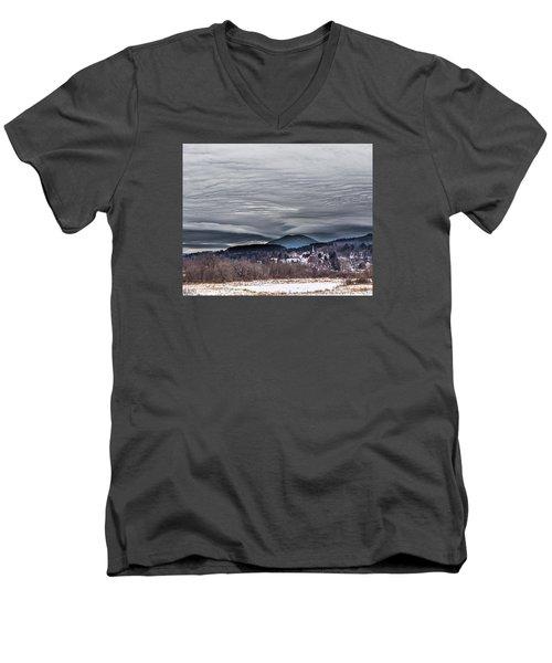 Sky Waves Men's V-Neck T-Shirt by Tim Kirchoff