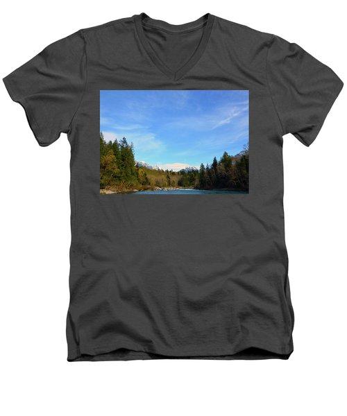 Skykomish River And Persis Men's V-Neck T-Shirt