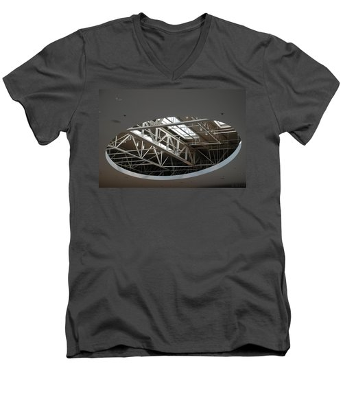 Men's V-Neck T-Shirt featuring the photograph Skylight Gurders by Rob Hans