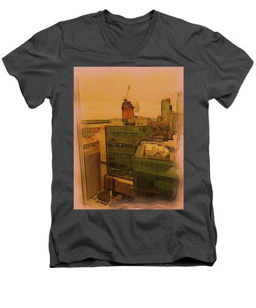 Skyline Crain Men's V-Neck T-Shirt