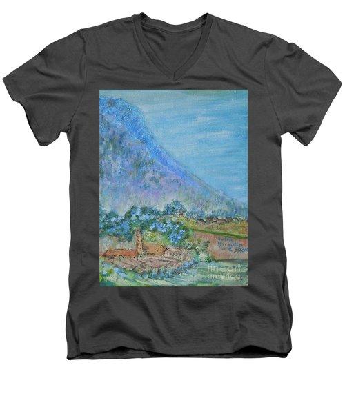 Skyline Drive Begins Men's V-Neck T-Shirt by Judith Espinoza